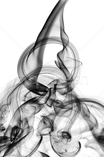 Stock photo: Abstract fume shapes on white