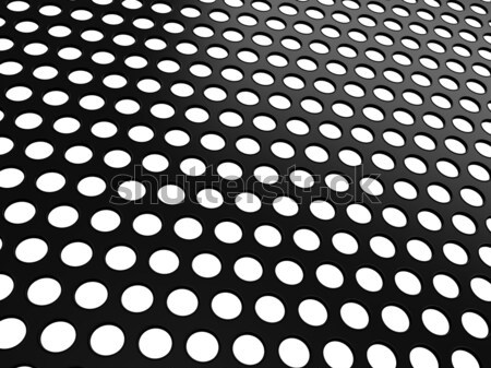 Black Aluminum grill with holes on white Stock photo © Arsgera