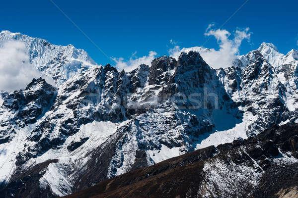 山 シーン 合格 ヒマラヤ山脈 トレッキング ネパール ストックフォト © Arsgera