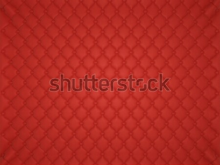 Red leather pattern with buttons and bumps Stock photo © Arsgera