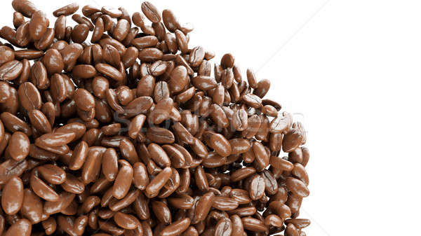 roasted coffee grains falling and mixing  Stock photo © Arsgera