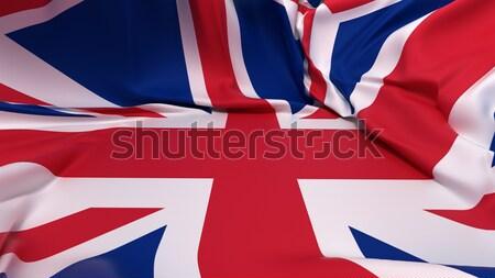 Gedekt groot-brittannië vlag ruimte ondersteuning Stockfoto © Arsgera