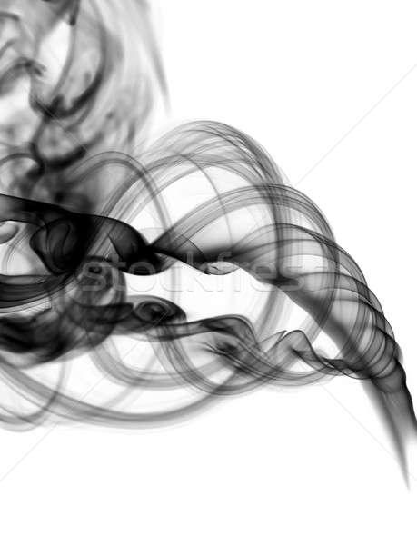Resumen negro humo remolino blanco luz Foto stock © Arsgera
