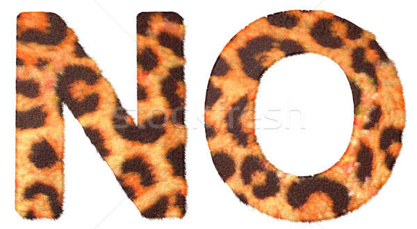 Stock photo: Leopard fur N and O letters isolated