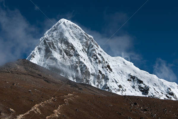 Pumori, Kala Patthar and cloudy sky in Himalayas Stock photo © Arsgera