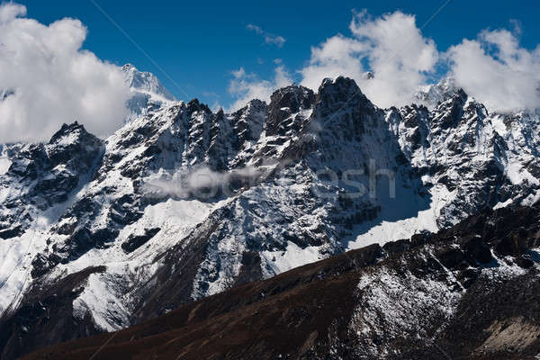 Mountain ridge viewed from Renjo pass in Himalayas Stock photo © Arsgera