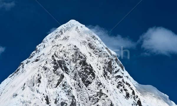 Blue sky Nepal himalaia montanhas céu Foto stock © Arsgera