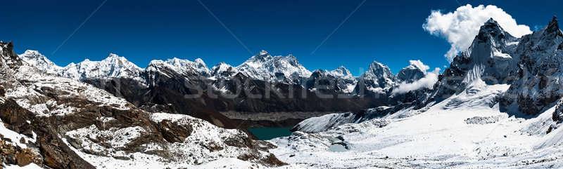 Stok fotoğraf: Panoramik · görmek · everest · trekking · yüksek