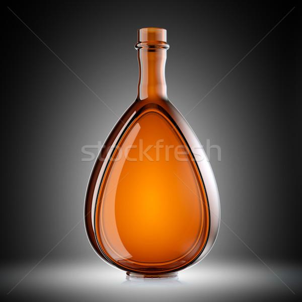 Rood glas fles wijn brandewijn helling Stockfoto © Arsgera