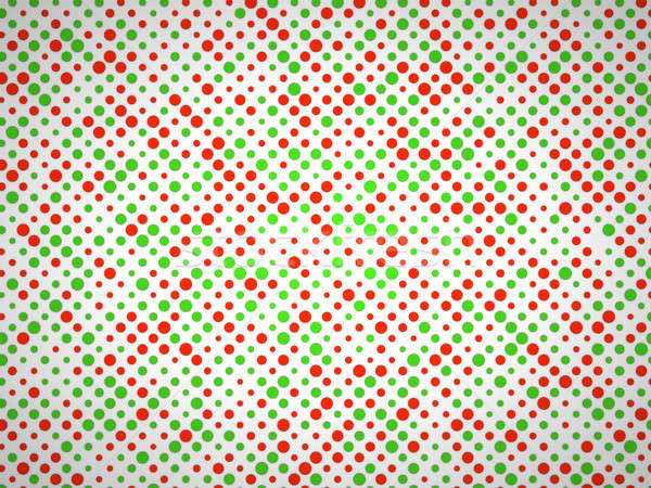 Polka dot pattern with green and red circles Stock photo © Arsgera