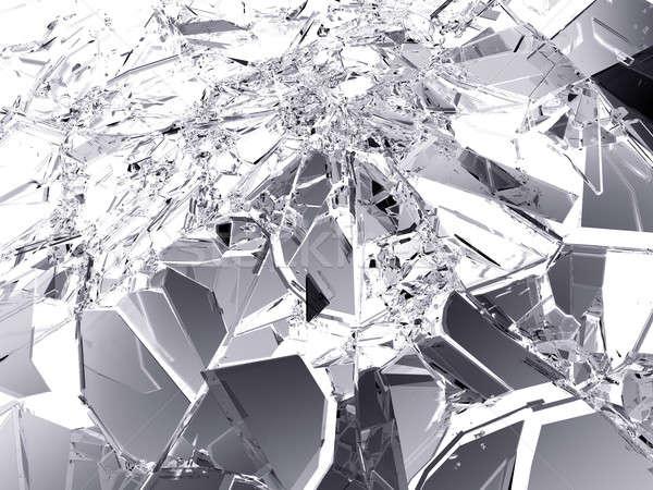 Muitos peças quebrado vidro quebrado branco grande Foto stock © Arsgera