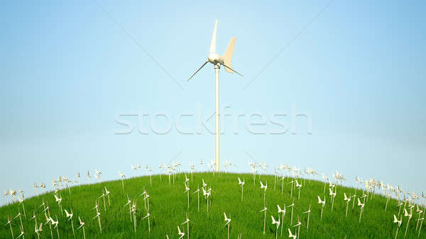 Power generating windmills Stock photo © Arsgera