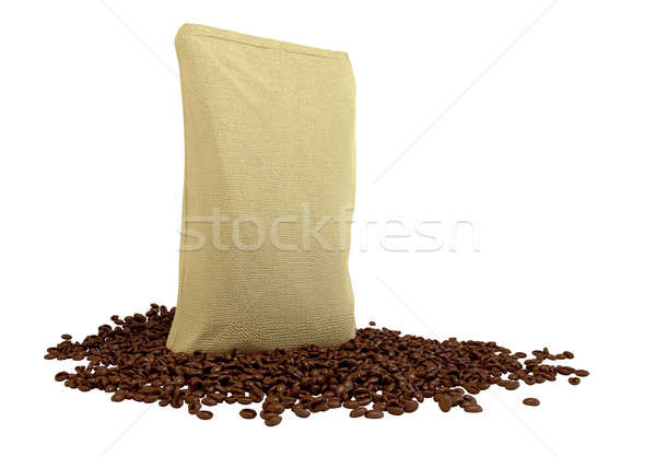 Sacking Package on coffee beans Stock photo © Arsgera