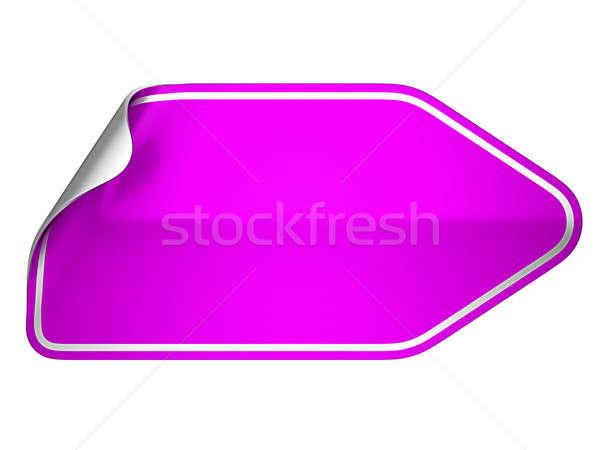 Magenta matrica címke fehér üzlet információ Stock fotó © Arsgera