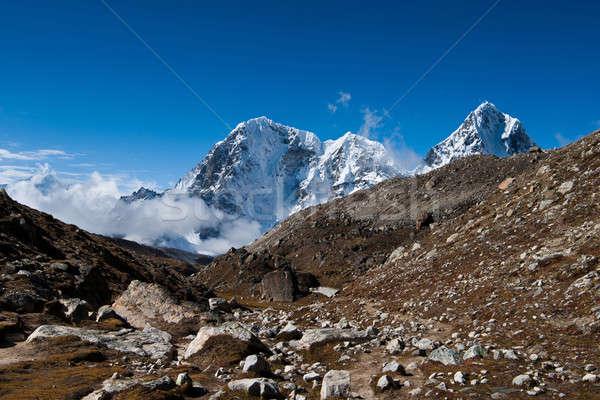 Mountain peaks and rocks: Himalaya landscape Stock photo © Arsgera