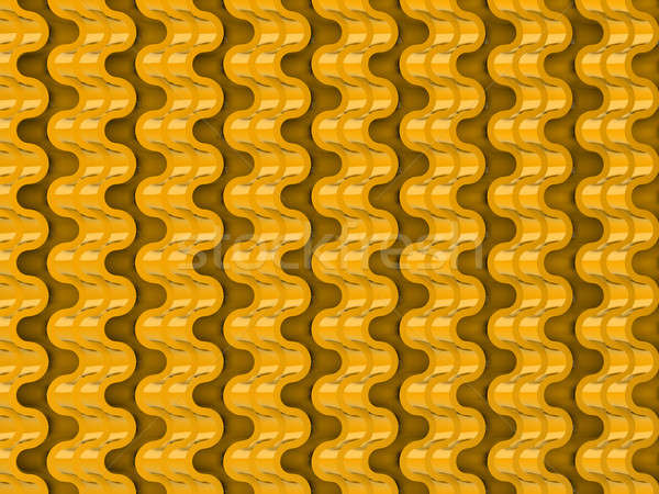 Golden Wavy scales pattern useful as background Stock photo © Arsgera