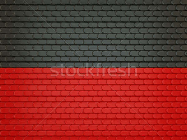 Black and red Leather stitched background with scales texture Stock photo © Arsgera