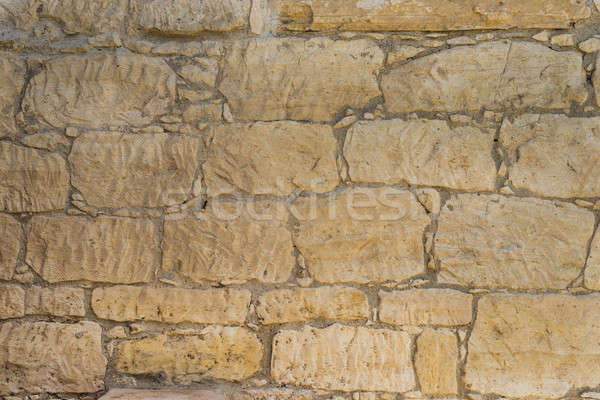 Old coquina Stone wall texture or background Stock photo © Arsgera