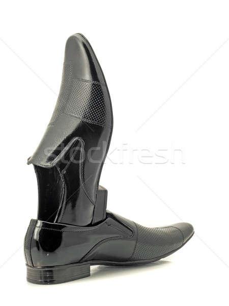 Black Mens patent-leather shoes Stock photo © Arsgera