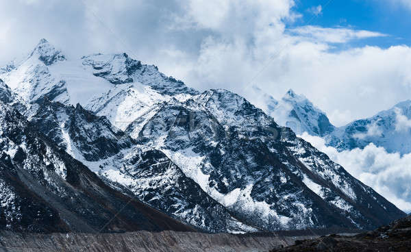 Peaks and glacier not far Gorak shep and Everest base camp Stock photo © Arsgera