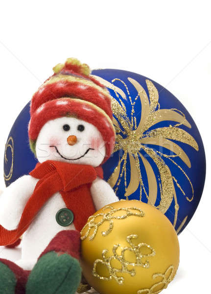 Cuddly Christmas decoration toy with colorful New Year Balls Stock photo © Arsgera