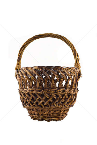 Small woven basket for food isolated over white Stock photo © Arsgera