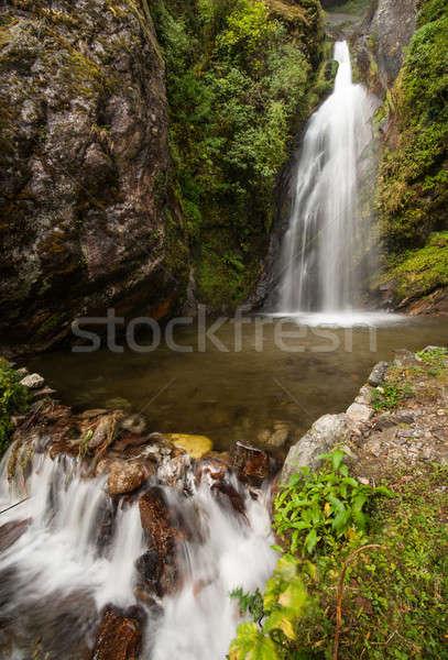 Himalaya Landscape: rocks and waterfall Stock photo © Arsgera
