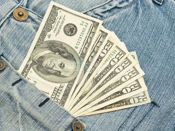 US Money in jeans pocket  Stock photo © Arsgera