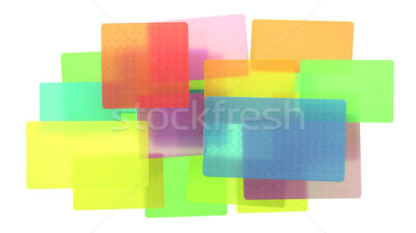 Abstract colored translucent rectangles Stock photo © Arsgera