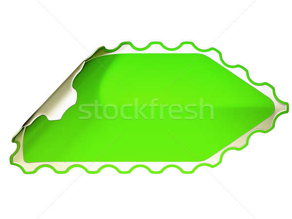 Green jagged hamous sticker or label  Stock photo © Arsgera
