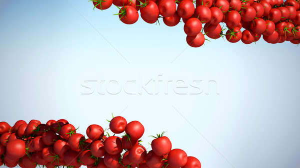 Two Tomatoe Cherry flows with space for text Stock photo © Arsgera
