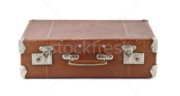 Travel  - old-fashioned scratched suitcase (trunk) Stock photo © Arsgera