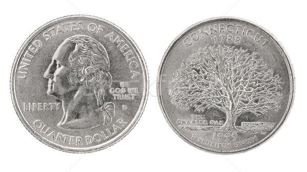 Trimestre dólar Connecticut Estados Unidos dinheiro moeda Foto stock © Arsgera