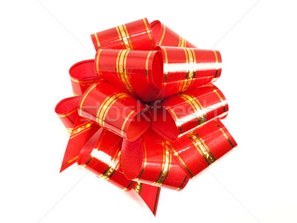 Red stripy holiday ribbon for presents and gifts  Stock photo © Arsgera
