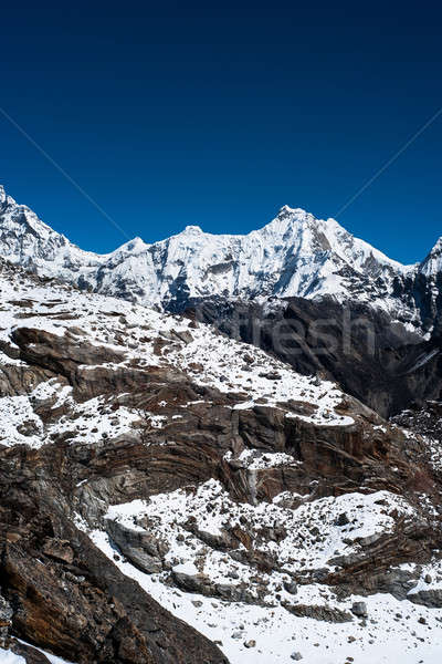 Montanha alcance ver himalaia céu Foto stock © Arsgera