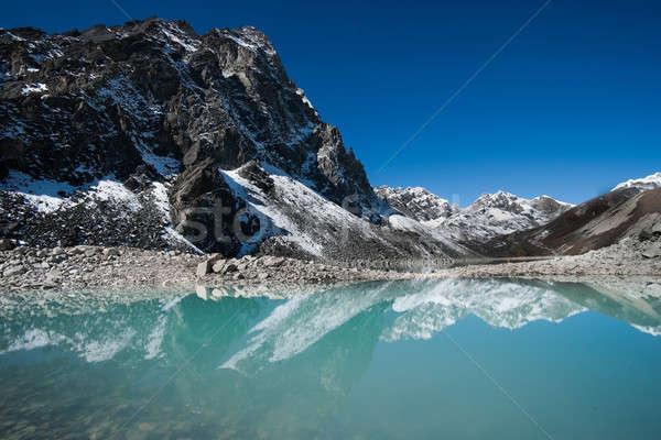 Dağlar göl himalayalar atış Nepal Stok fotoğraf © Arsgera