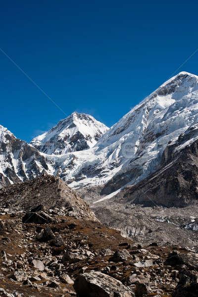 Himalája égbolt tájkép jég kő kő Stock fotó © Arsgera