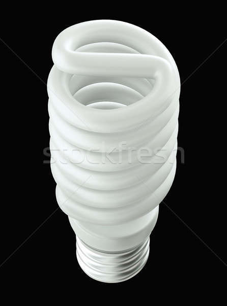 Top Side view of Energy efficient light bulb isolated  Stock photo © Arsgera
