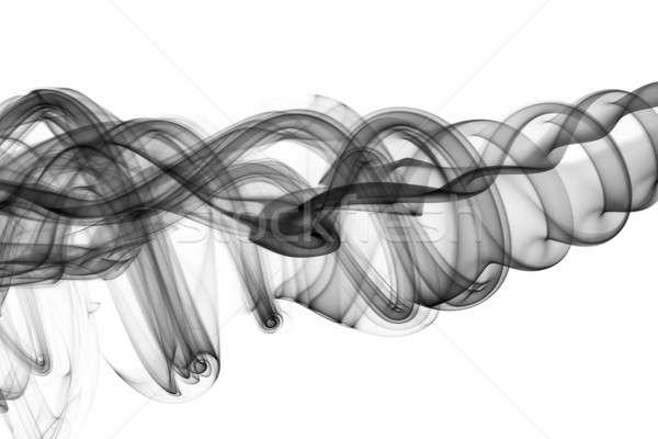 Abstract fume swirl on white Stock photo © Arsgera