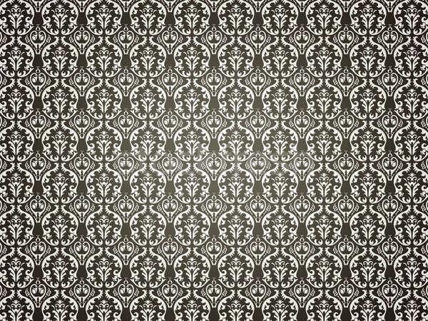 Black Background with victorian ornament Stock photo © Arsgera