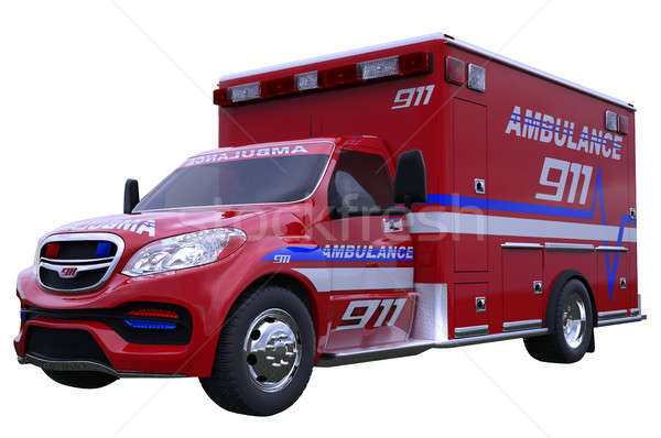 Vészhelyzet mentő jármű izolált fehér összes Stock fotó © Arsgera