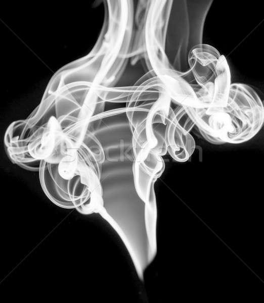 White abstract smoke or fume shape on black Stock photo © Arsgera
