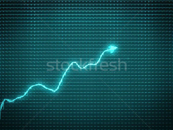 blue trend as success symbol or financial growth Stock photo © Arsgera