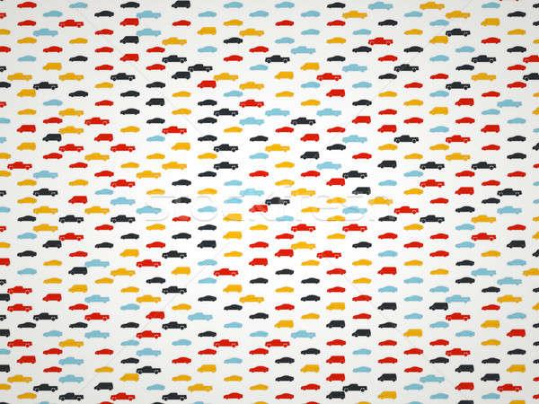 Transporte colorido pictogramas textura coche diseno Foto stock © Arsgera