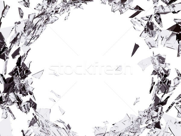 Destruction  Shattered or demolished glass with hole Stock photo © Arsgera