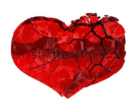 Narcotics and Drugs are killing. Crashing heart isolated Stock photo © Arsgera