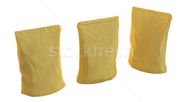 Burlap Package for tea or coffee isolated Stock photo © Arsgera