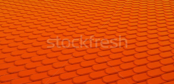 Orange Leather stitched background with scales texture Stock photo © Arsgera