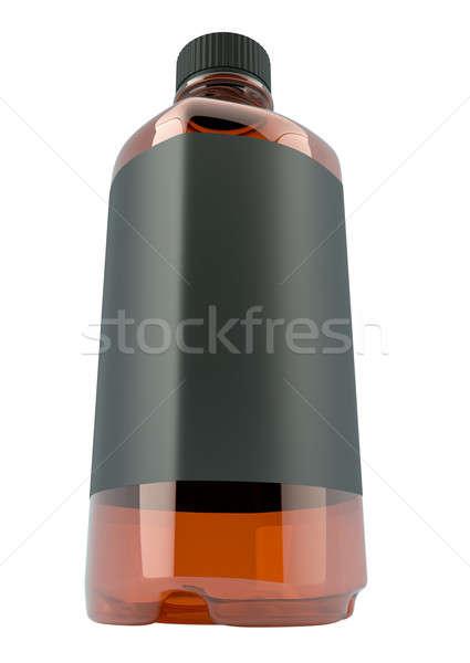 Flasche Chemikalien Flüssigkeit Weitwinkel Ansicht Stock foto © Arsgera