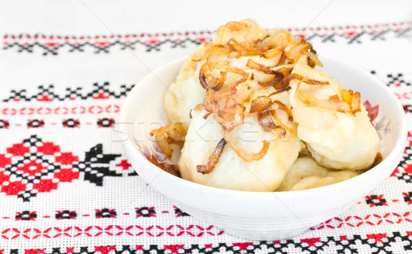 Ukrainian vareniki or dumplings  Stock photo © Arsgera